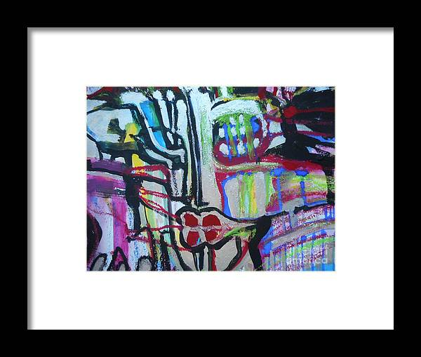 Katerina Stamatelos Art Framed Print featuring the painting Femme-fatale-1 by Katerina Stamatelos