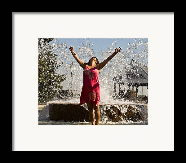 Femme Framed Print featuring the photograph Femme Fountain by Al Powell Photography USA