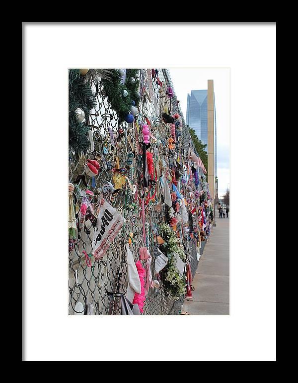 Okc Framed Print featuring the photograph Memories Fence by Buck Buchanan