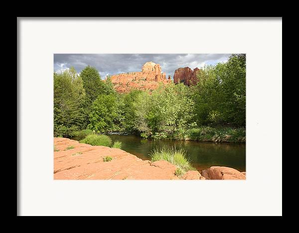 Cathedral Rock Framed Print featuring the photograph Feng Shui In Sedona by Carol Groenen
