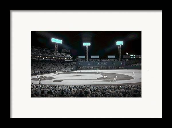 Ballpark Framed Print featuring the photograph Fenway Infrared by James Walsh