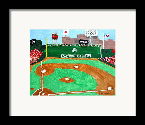 Fenway Park Framed Print featuring the painting Fenway Park by Jeff Caturano