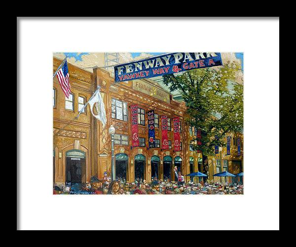 Fenway Park Framed Print featuring the painting Fenway Summer by Gregg Hinlicky