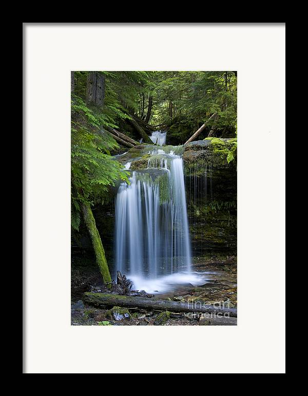 Waterfalls Framed Print featuring the photograph Fern Falls by Idaho Scenic Images Linda Lantzy