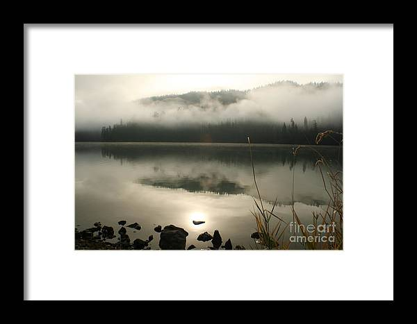 Mist Framed Print featuring the photograph Fernan Fog by Idaho Scenic Images Linda Lantzy