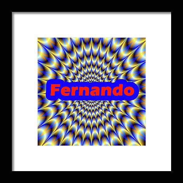Men Framed Print featuring the digital art Fernando by Mitchell Watrous