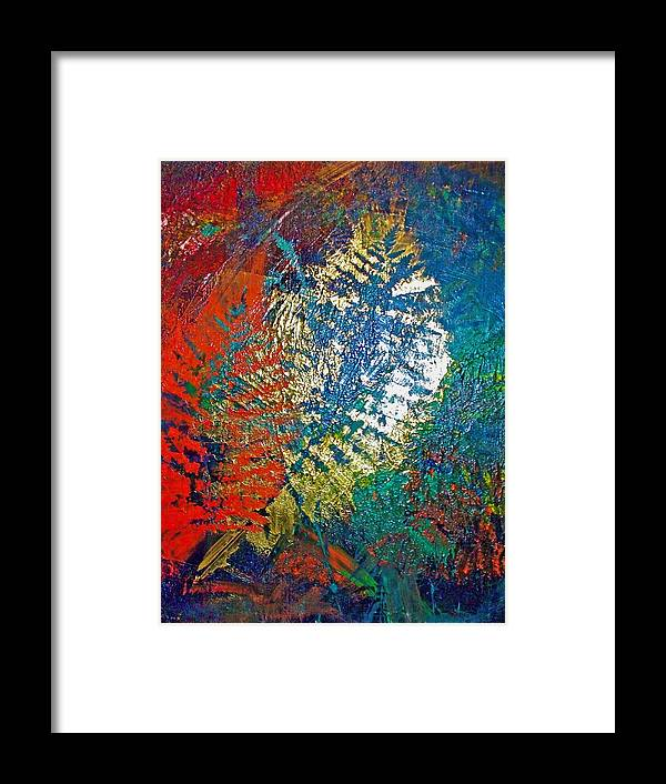 Imprints Framed Print featuring the painting Ferns by Jennifer Addington