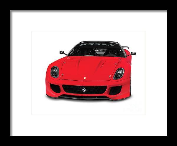 Ferrari Framed Print featuring the photograph Ferrari 599xx by Oleksiy Maksymenko