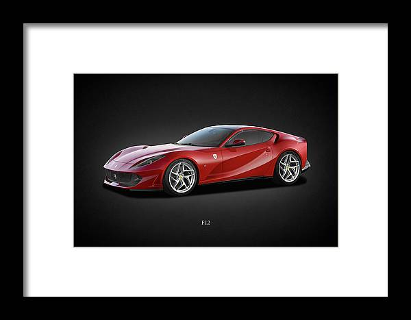 Ferrari F12 Framed Print featuring the photograph Ferrari F12 by Mark Rogan