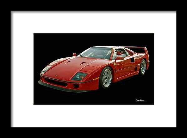 Ferrari F40 Framed Print featuring the photograph Ferrari F40 by Larry Linton