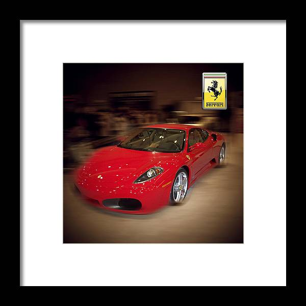 �auto Corner� Collection By Serge Averbukh Framed Print featuring the photograph Ferrari F430 - The Red Beast by Serge Averbukh