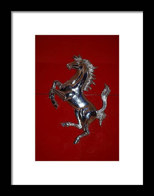 Pop Art Framed Print featuring the photograph Ferrari Stallion by Rob Hans