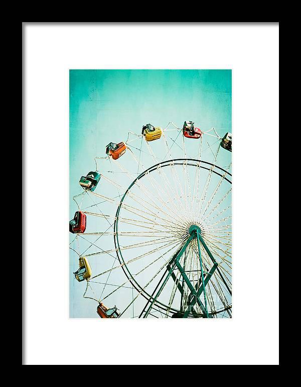 Ferris Wheel Framed Print featuring the photograph Ferris Wheel 2 by Kim Fearheiley