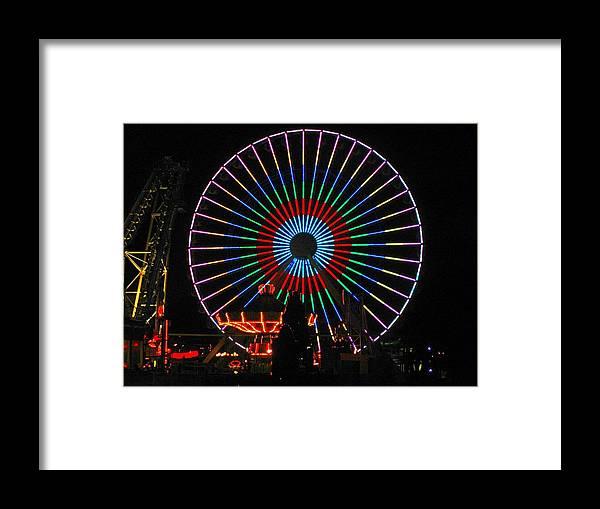 Ferris Wheel Framed Print featuring the photograph Ferris Wheel In Wildwood New Jersey by Denise Keegan Frawley