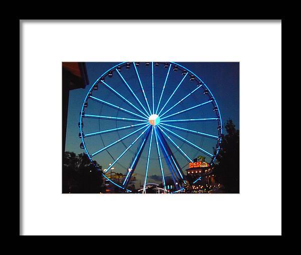 Ferris Wheel Framed Print featuring the photograph Ferris Wheel by Karla Hoffman
