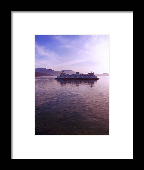 Washington Framed Print featuring the photograph Ferry Ride Through The San Juans by Karla DeCamp