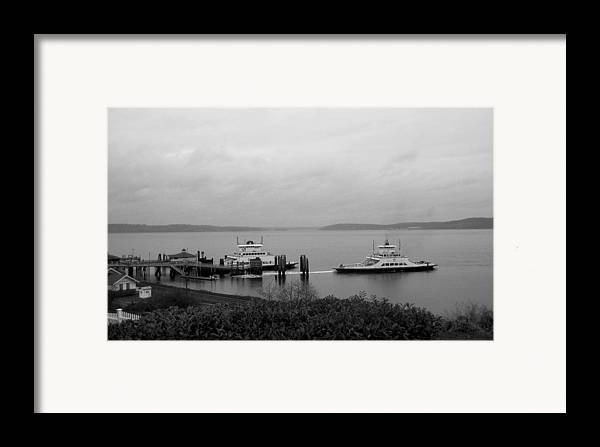 Nature Framed Print featuring the photograph Ferry by Ty Nichols