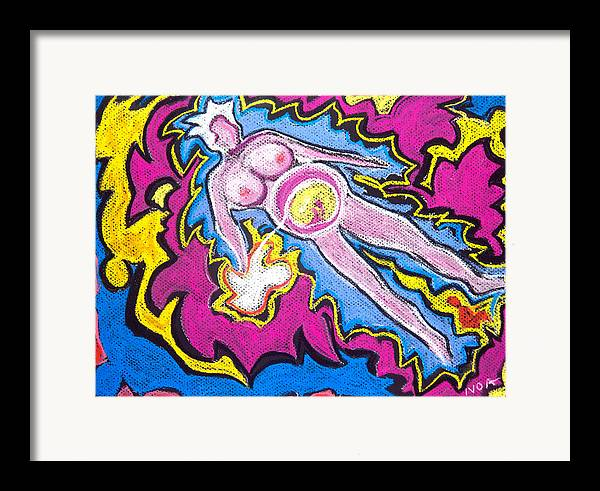 Abstract Framed Print featuring the pastel Fertility by Aymeric NOA