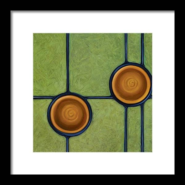 Circles Framed Print featuring the painting Fervor by Don Mullins