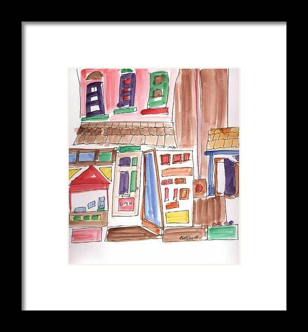 City Framed Print featuring the painting Festival in the City 3 by B L Qualls