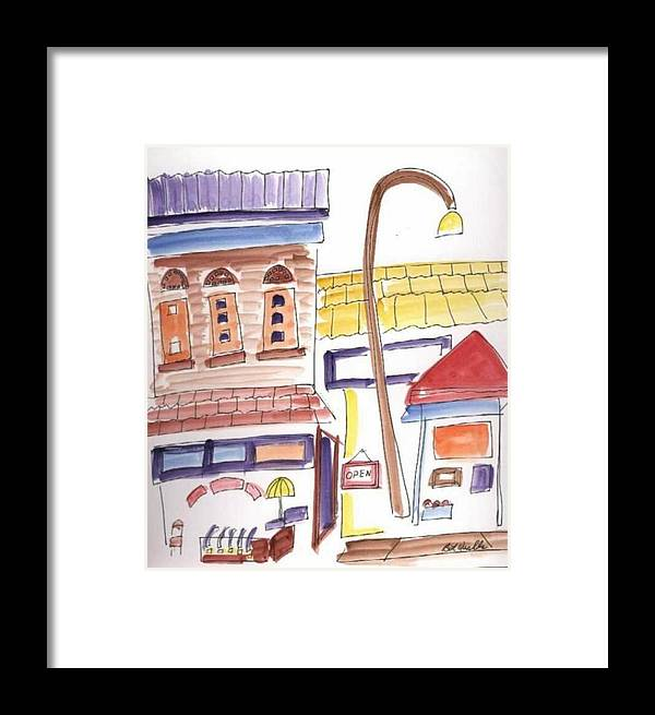 Watercolor Framed Print featuring the painting Festival In The City 4 by B L Qualls