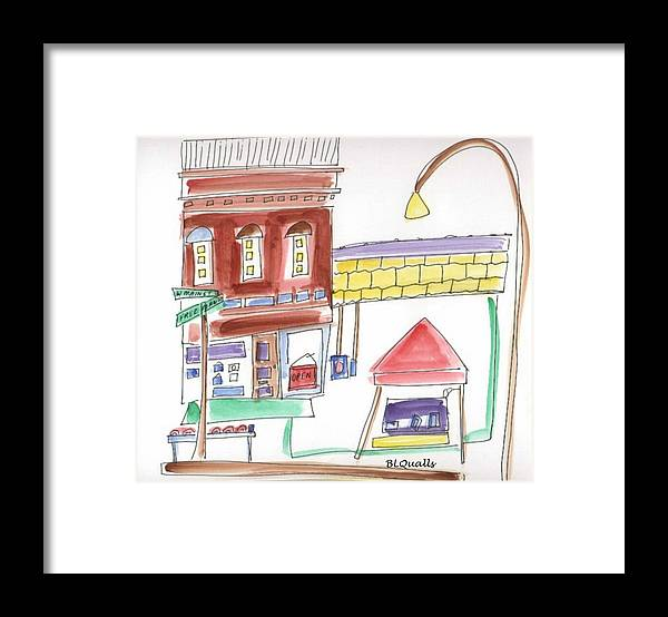 Watercolkor Framed Print featuring the painting Festival in the City 5 by B L Qualls