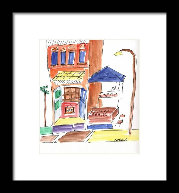 Festival Framed Print featuring the painting Festival in the City 6 by B L Qualls
