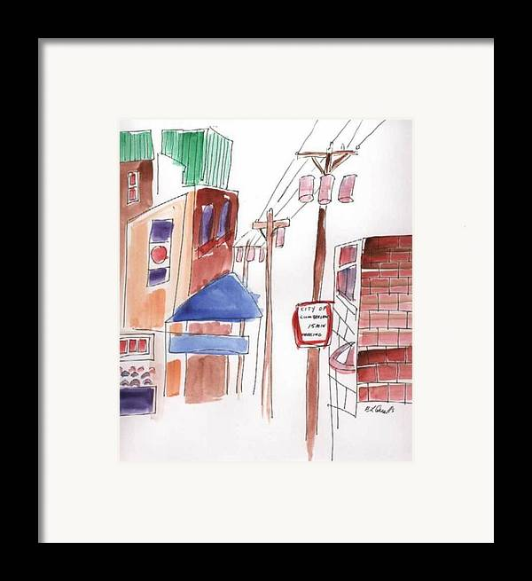 Watercolor Framed Print featuring the painting Festival In The City 8 by B L Qualls