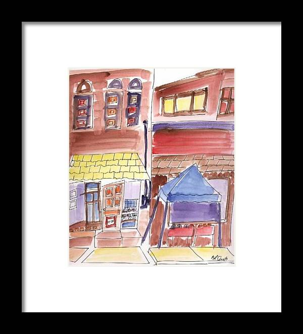 Watercolor Framed Print featuring the painting Festival In The City - 9 by B L Qualls