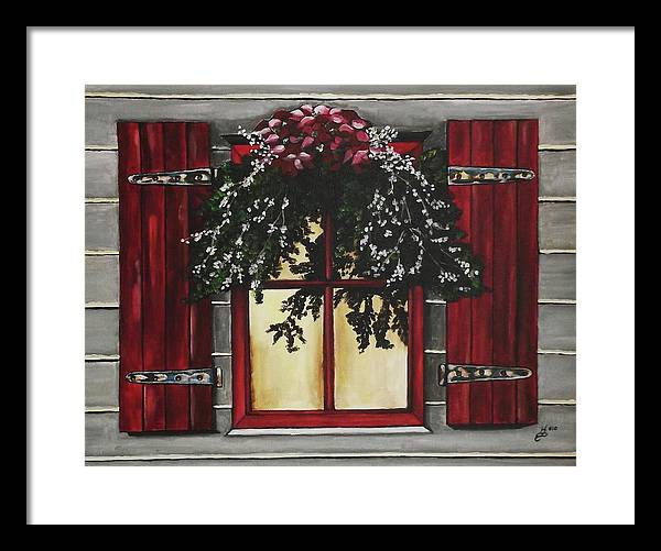 Acrylic Framed Print featuring the painting Festive Window by Kim Selig