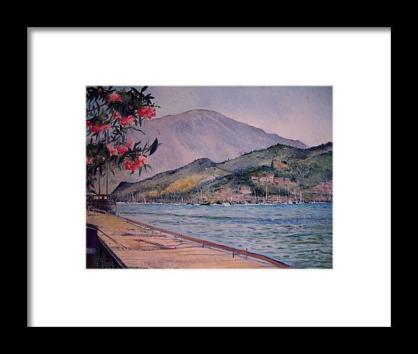 Turkey Framed Print featuring the painting Fethiye Turkey 2006 by Enver Larney