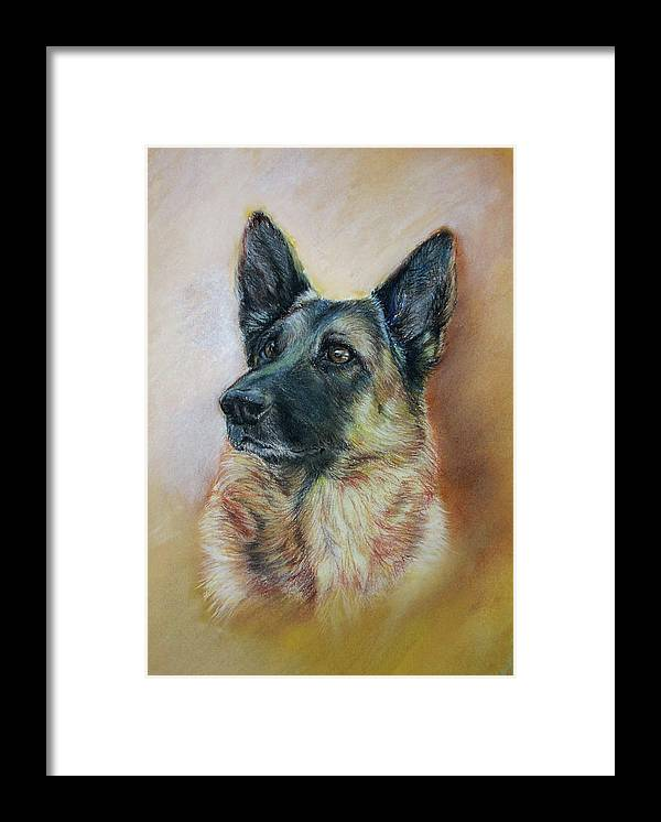 Animal Framed Print featuring the painting Feuer Von Haus Milesevac by Dragan Gilic