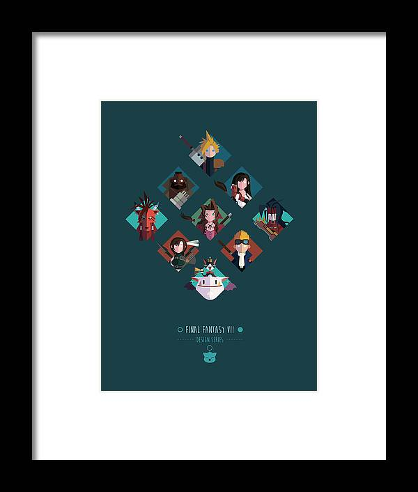 Final Fantasy Framed Print featuring the digital art FF Design Series by Michael Myers