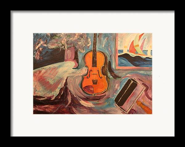 Framed Print featuring the painting Fiddle by Biagio Civale