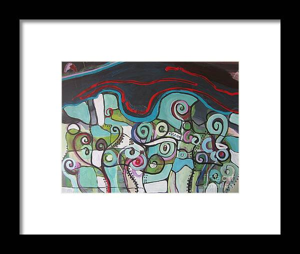 Fiddleheads Paintings Framed Print featuring the painting Fiddleheads 5 by Seon-Jeong Kim