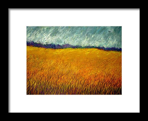 Field Framed Print featuring the painting Field At Noon by Kent Whitaker