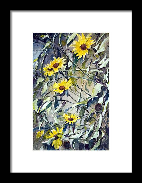 Wild Daisy Flowers Framed Print featuring the painting Field Daisies by Bob Duncan