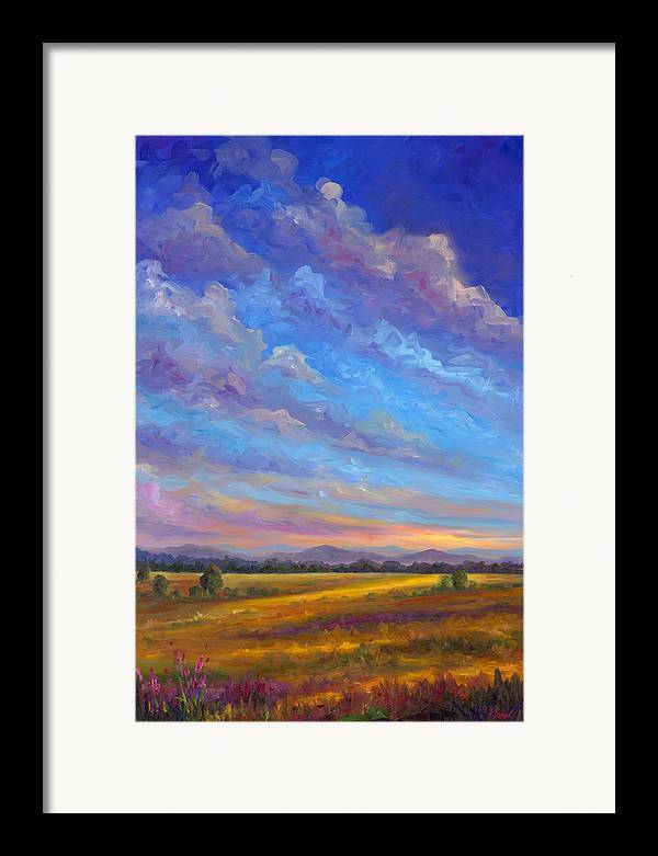 Field Framed Print featuring the painting Field Of Flowers by Jeff Pittman