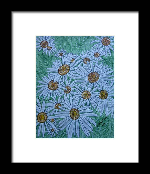 Field Framed Print featuring the painting Field Of Wild Daisies by Kathy Marrs Chandler