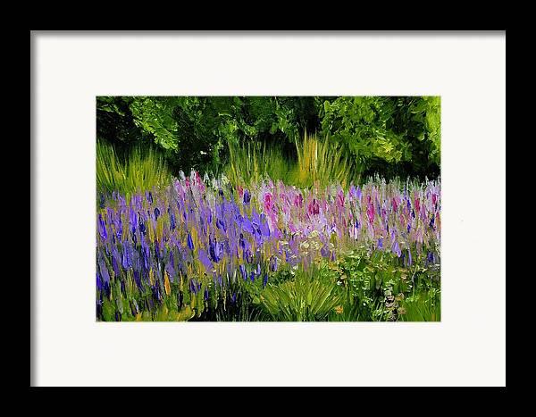 Konkol Framed Print featuring the painting Fields Of Purple by Lisa Konkol