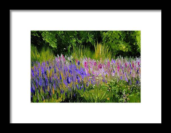 Konkol Framed Print featuring the painting Fields Of Purple by Lisa Konkol