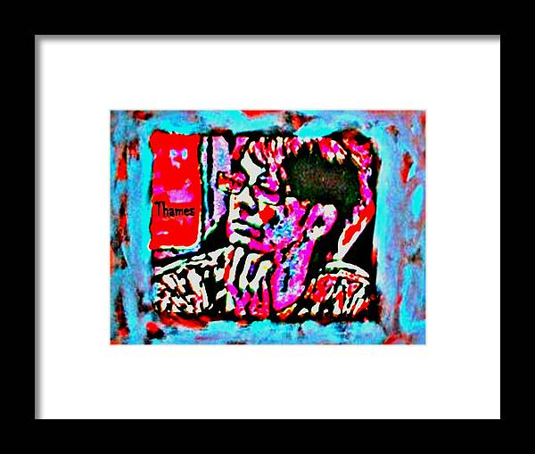 Christian Framed Print featuring the painting Fierce by Christopher Thames