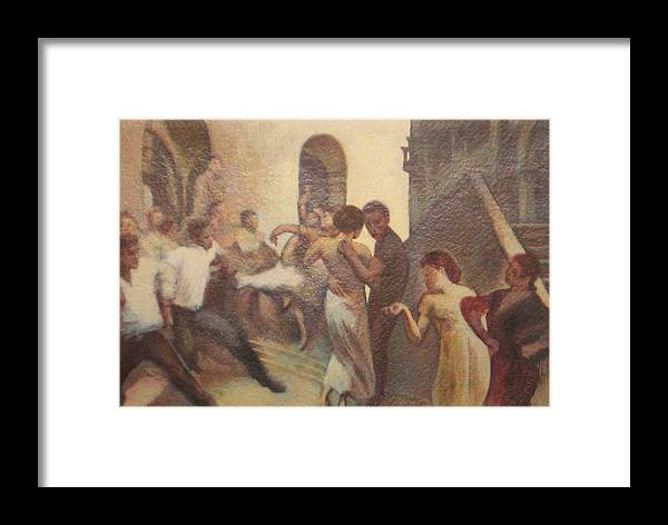 Dancing In The Street Framed Print featuring the painting Fiesta Espanola by James LeGros