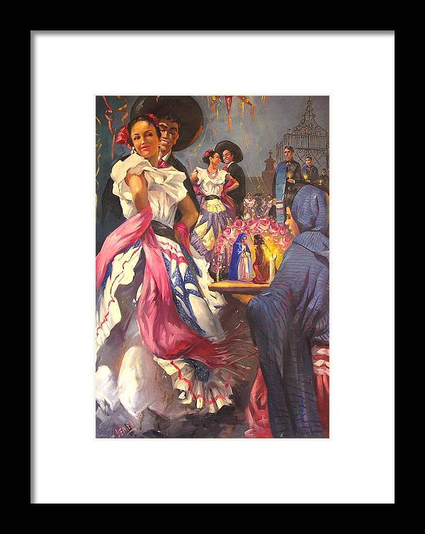 Fiesta Framed Print featuring the painting Fiesta Tapatia by Demetrio