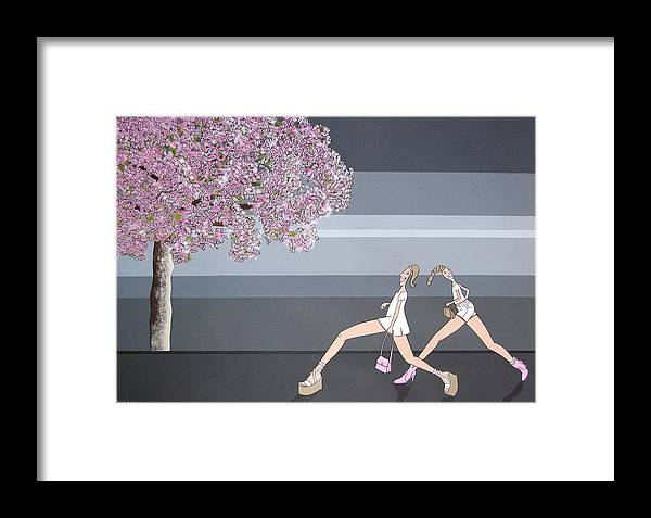Girls Framed Print featuring the painting Fifteen by Patricia Van Lubeck