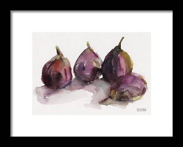 Purple Framed Print featuring the painting Fig Season by Beverly Brown