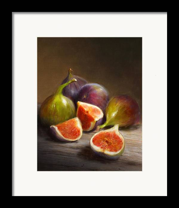 Figs Framed Print featuring the painting Figs by Robert Papp