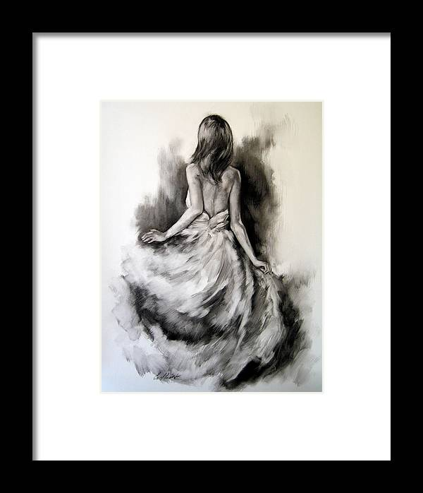 Figurative Framed Print featuring the painting Figure Study 3 by Stuart Gilbert