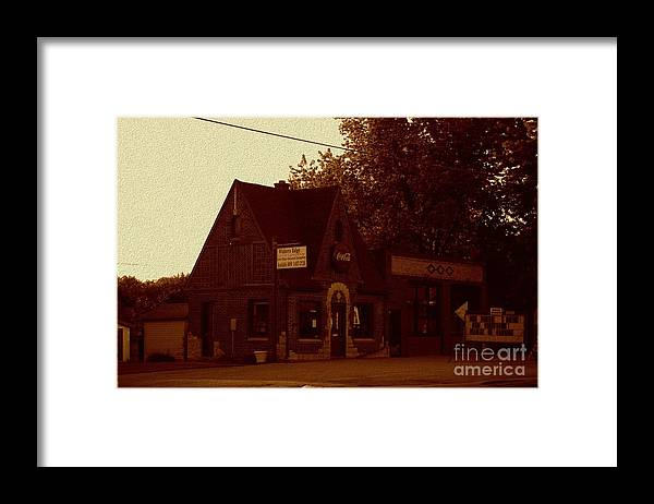 Fill Framed Print featuring the photograph Fill Er Up by The Stone Age
