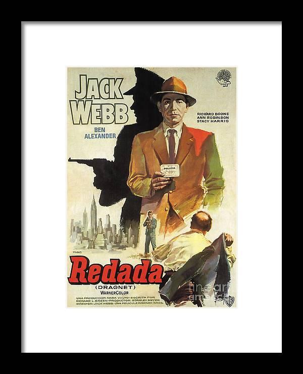 Dragnet Film Noir Movie Poster Redada Jack Web Framed Print by R ...
